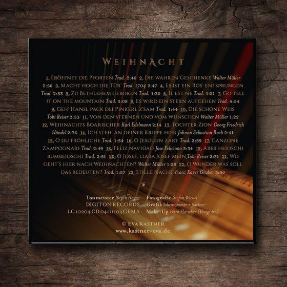 CD »Weihnacht« –Rücken